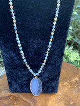 Load image into Gallery viewer, Amazonite and Agate Slice Necklace