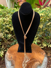 Load image into Gallery viewer, Gold Herringbone Knot Necklace