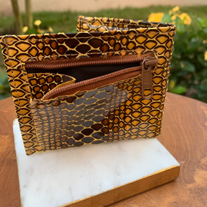 "Genuine Leather So Soft Evening Bag Wallet in ""Safari"""