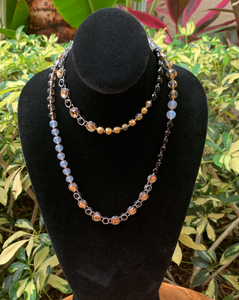 Bead and Crystal Long Necklace