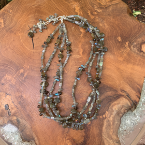 Four Strand Labradorite Hand Crafted Necklace