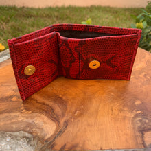 "Load image into Gallery viewer, Genuine Leather So Soft Evening Bag Wallet in ""Scarlet"""