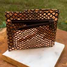 "Load image into Gallery viewer, Genuine Leather So Soft Evening Bag Wallet in ""Copper"""