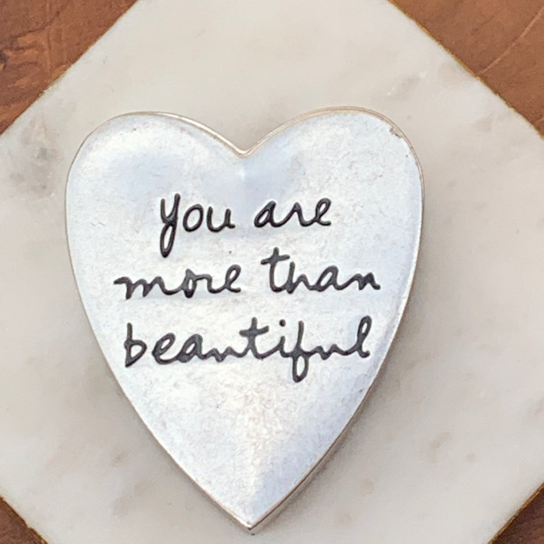 Heart Saying Metal Trinket Box - You Are More than Beautiful