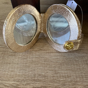 Large Double Mirror Snap Case in Gold Foil