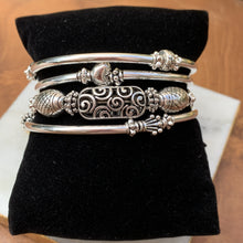 Load image into Gallery viewer, Wire Twist Bracelet- Filigree Silver Tone