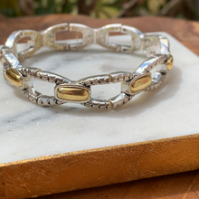 Load image into Gallery viewer, Two Tone Stretch Bracelet