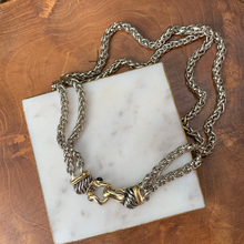 Load image into Gallery viewer, Two Tone Designer Inspired Double Chain Magnetic Closure
