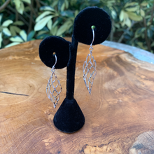 Load image into Gallery viewer, Silver Plated Twist Drop Earrings