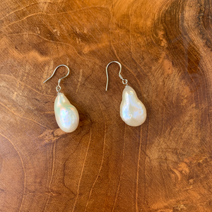 Genuine Pearl Drop Earrings