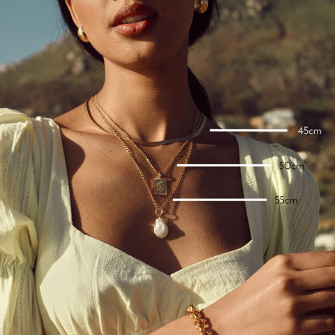 chain necklace layering size length guide