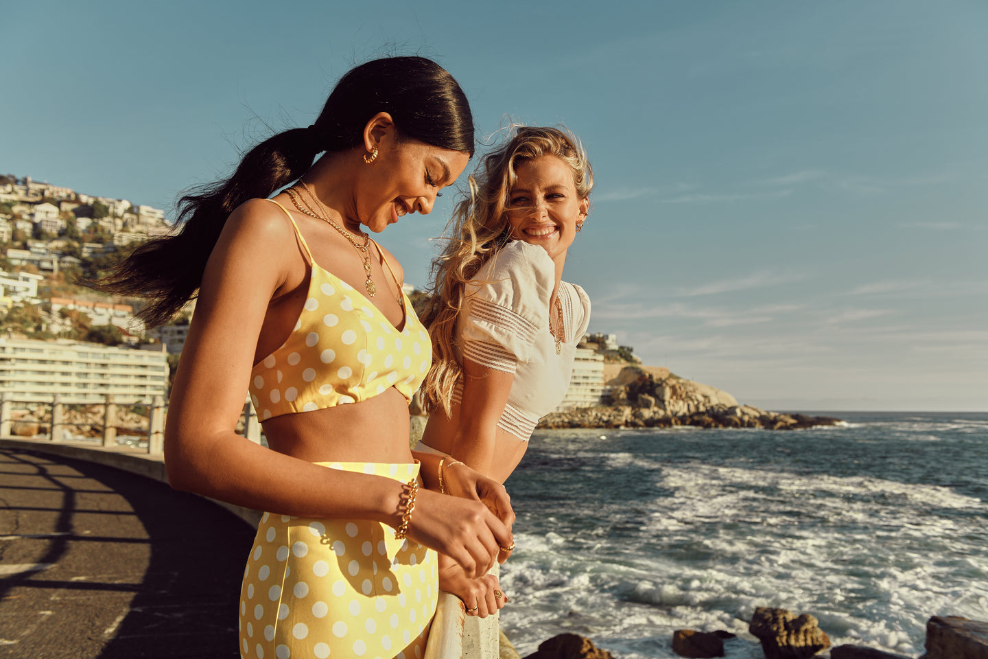 andrea wittenberg carla peters cape town boss models jewellery campaign ivy & lula gold vermeil