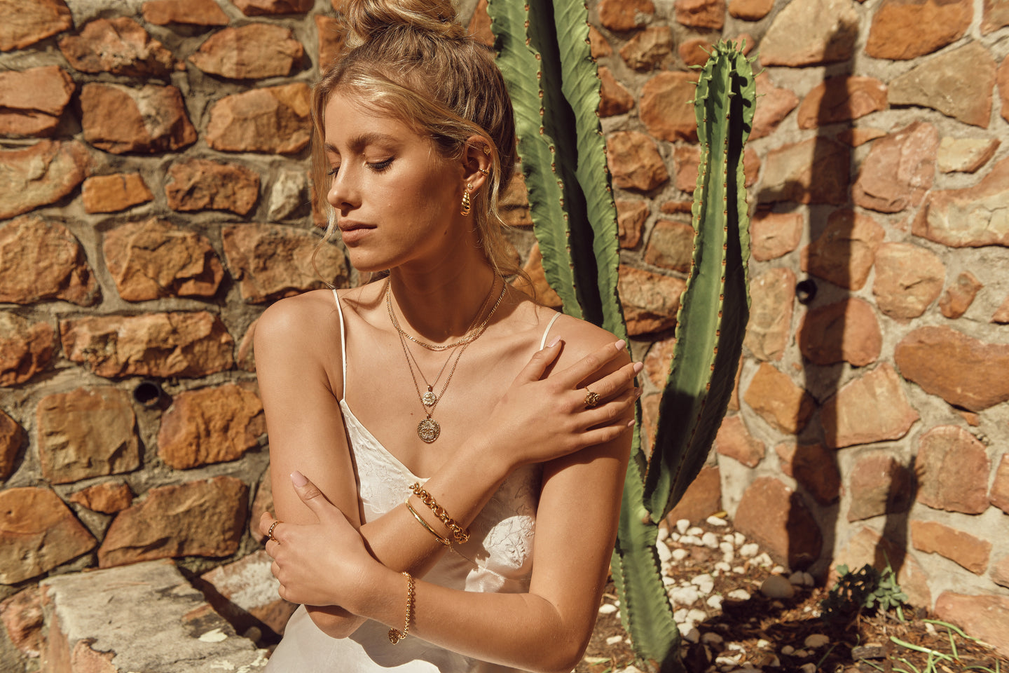 andrea wittenberg cape town boss models jewellery campaign ivy & lula gold vermeil