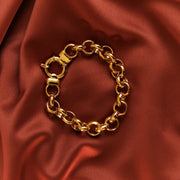 gold chain linked bracelet signoretti clasp