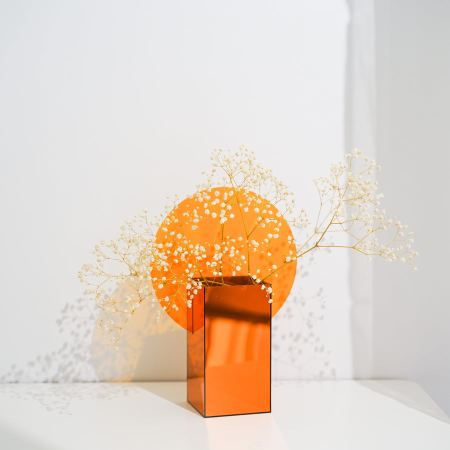 sunrise mirror vase