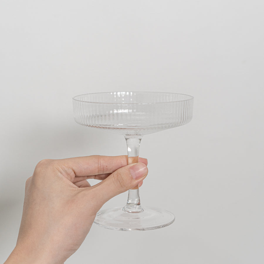 crystal fluted cocktail glass