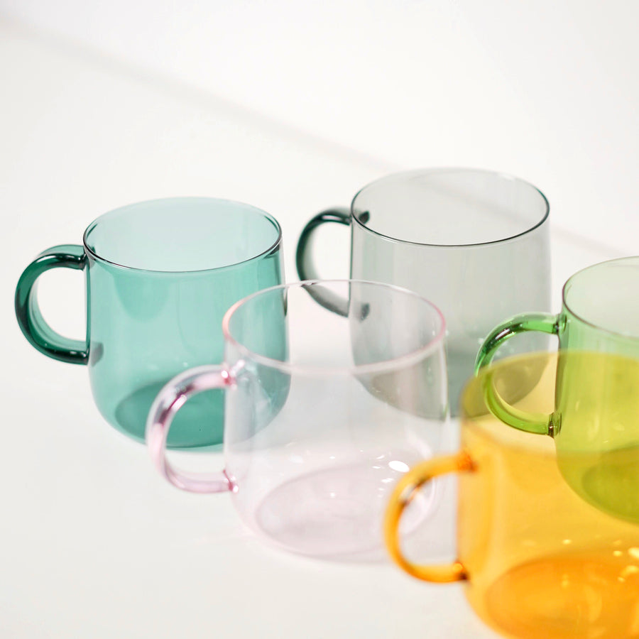 tinted glass cups