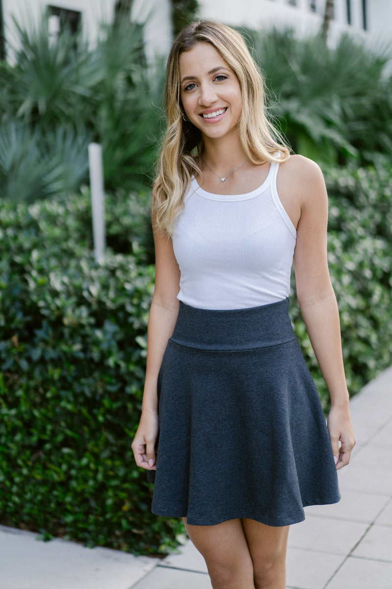 Olive and Tuesday Circle Skirt Smoke Front