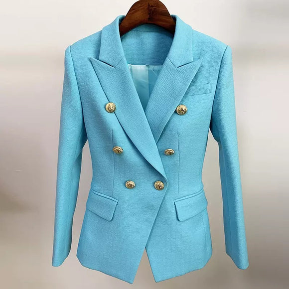 Azel Double Breasted Slim Fitting Blazer