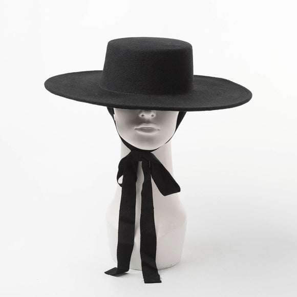 Yesenia Wool Flat Top Fedora Hat