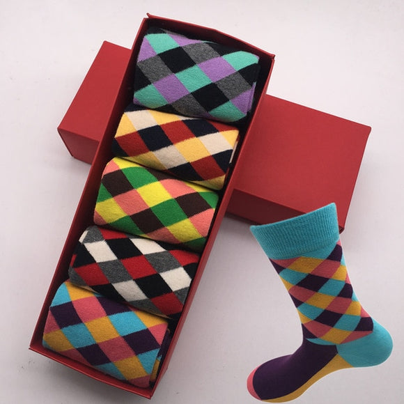 Carter Retro Colours Men's British Style Cotton Socks