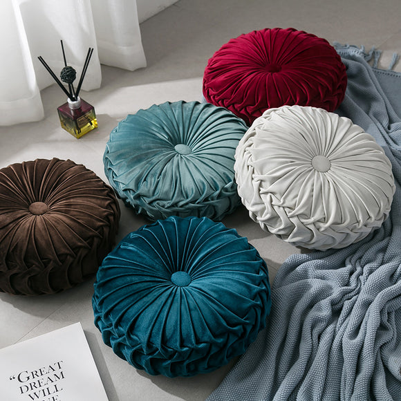 Bisha Velvet Pleated  Cushion