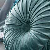 Bisha Velvet Pleated Round Floor Cushion Pillow