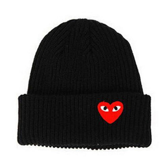 Bash Unisex Heart Eye Cartoon Label Knit Bonnet Hat