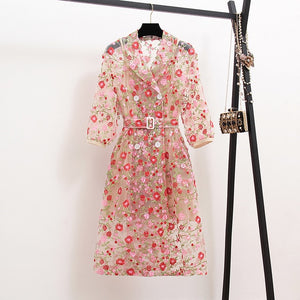 Millie Floral Trench Coat