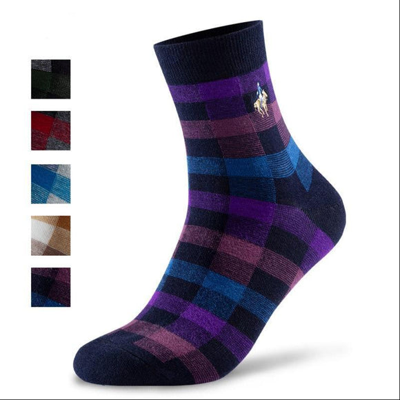 Zino Check-Patterned Men's Pollo Socks