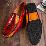 Logan Casual Genuine Ostrich Leather Loafers