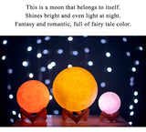 Mask 3D Colourful Moon Lamp