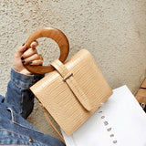 Fay Wooden Handle Handbag