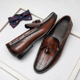 Alex's Brown Leather Loafers
