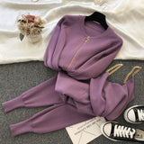 Aviva Knitted 3pcs Set Tracksuit