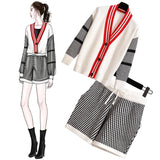 Kiera Knitted Jacket and Shorts Set