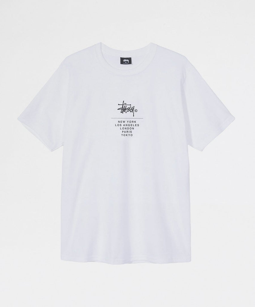 City Stack Tee White from Stussy | t-shirts | Packyard