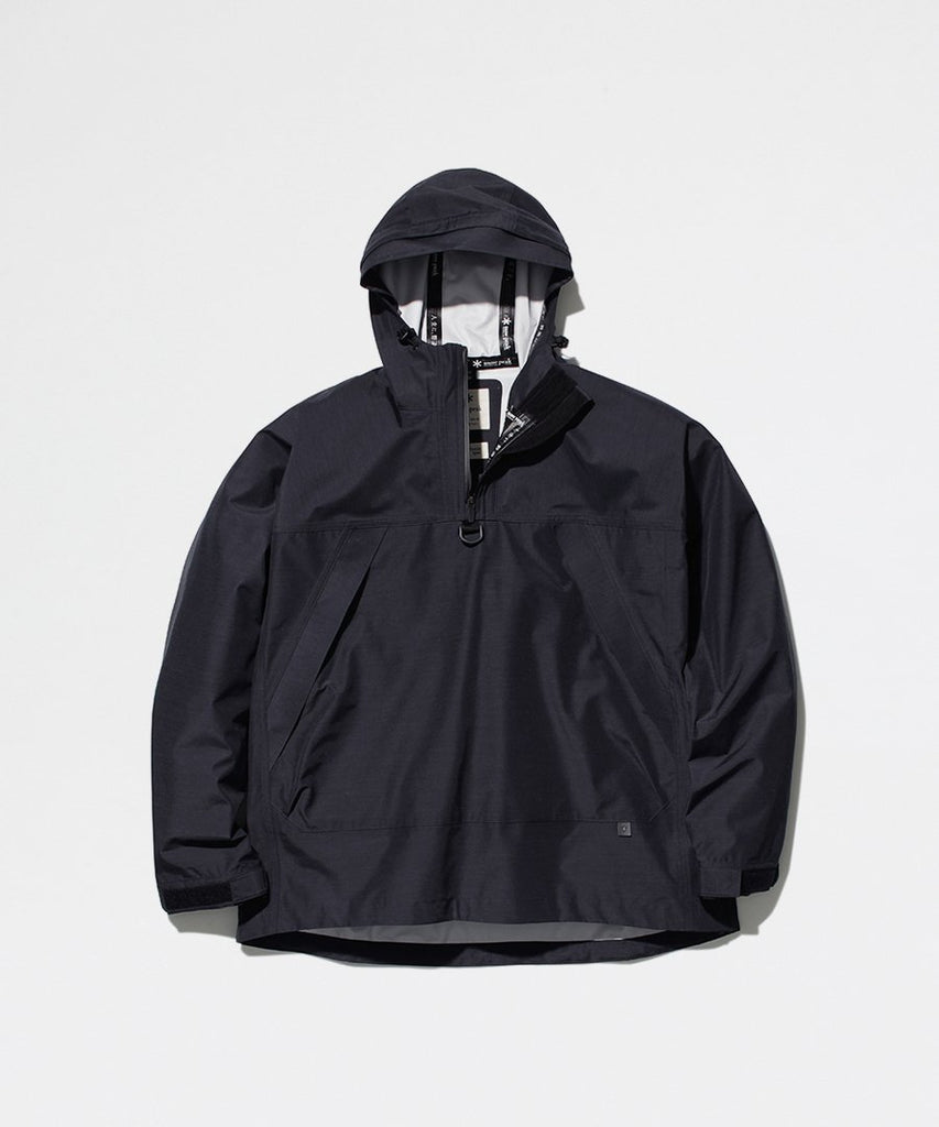 FR 3L Rain Pullover Black from Snow Peak | jackets | Packyard