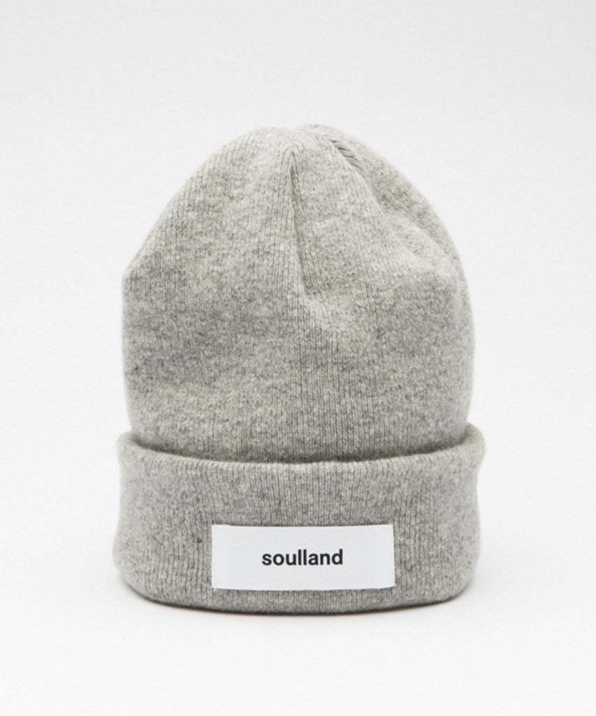 Villy Beanie Light Grey Melange from Soulland | UDSOLGT | Packyard