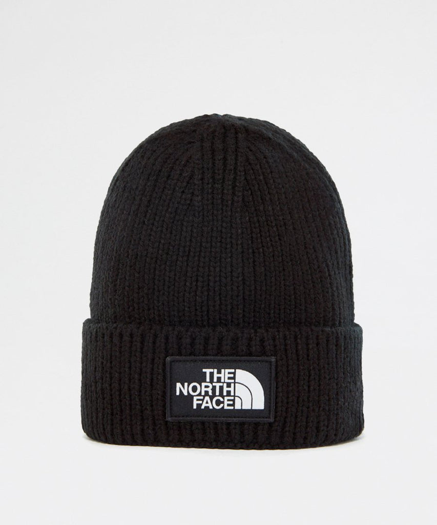 TNF Logo Box Cuff Beanie Black from The North Face | UDSOLGT | Packyard