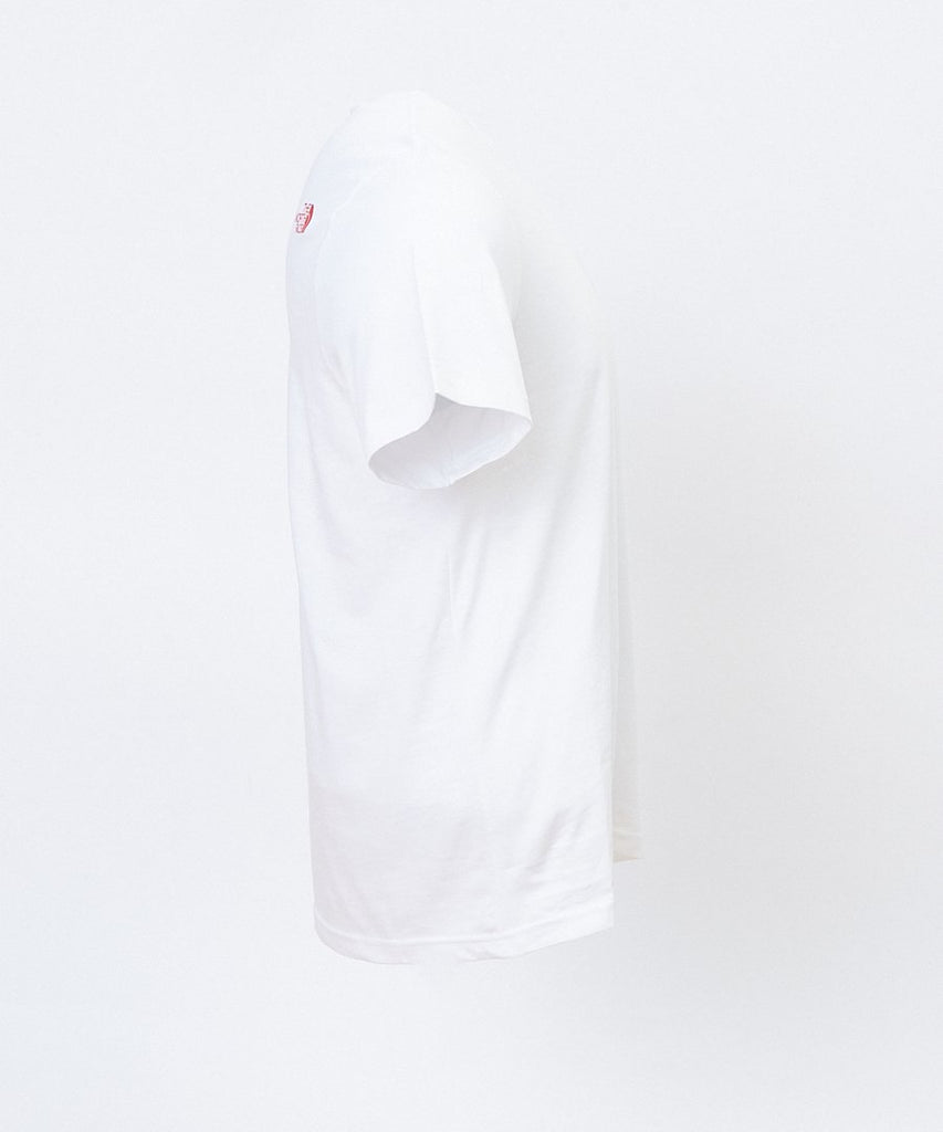 SS Fine Tee White Red from The North Face | UDSOLGT | Packyard