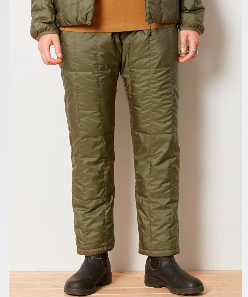 Recycled Middle Down Pants Olive from Snow Peak | trousers | Packyard