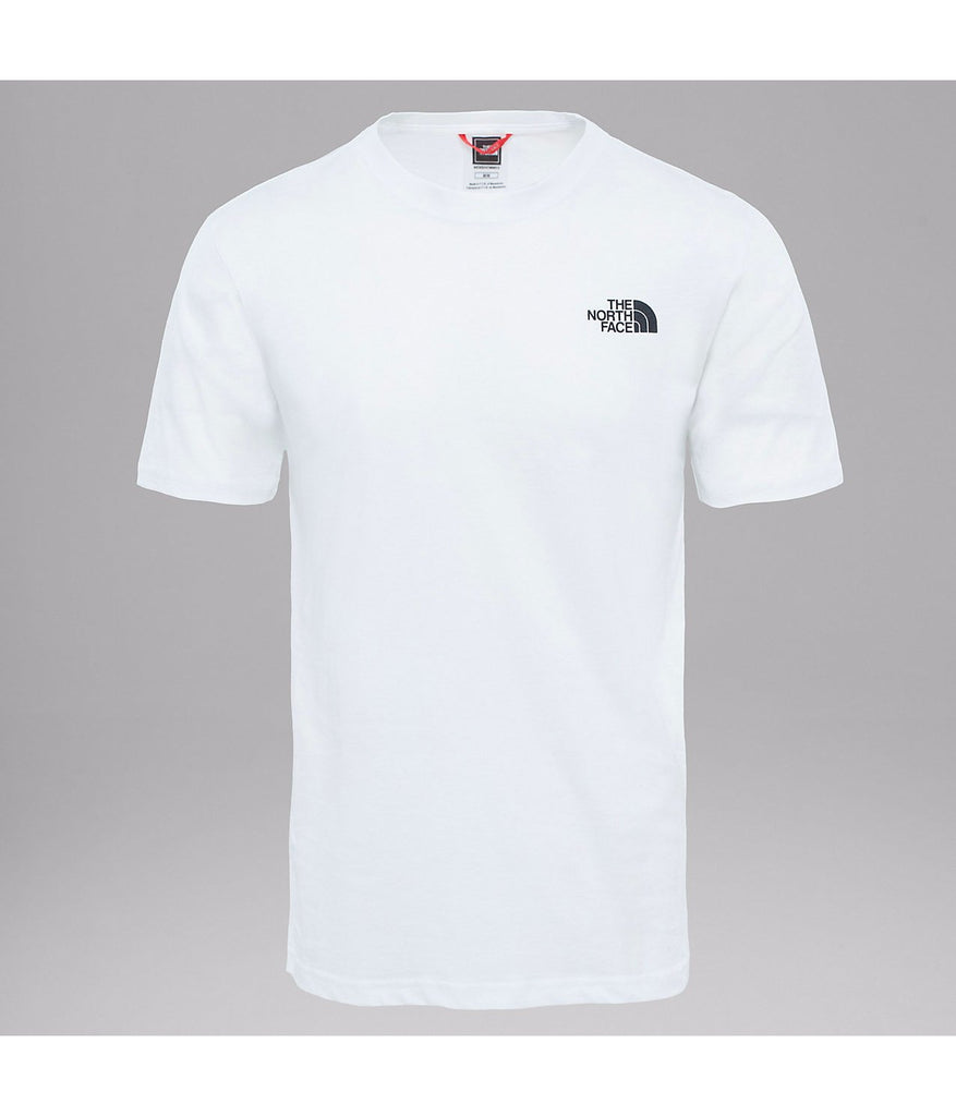 M SS Red Box Tee White from The North Face | UDSOLGT | Packyard