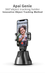 Face Object Tracking Holder,Selfie Stick 360°Rotation