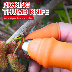 PlasticSilicone Thumb Knife Finger Protector Vegetable Harvesting Plant Blade Scissors