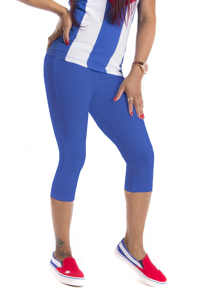 LEGGINGS DONNA BLU FRANCIS CUBA IN COTONE