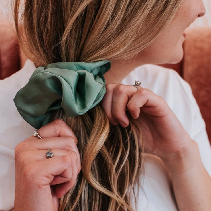 Jumbo Satin Scrunchie Collection