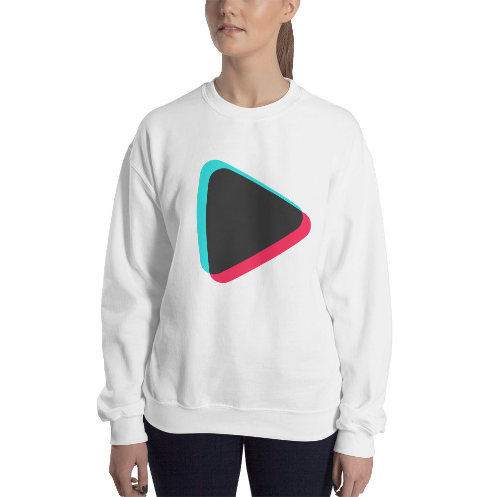Play Button Sweatshirt Unisex