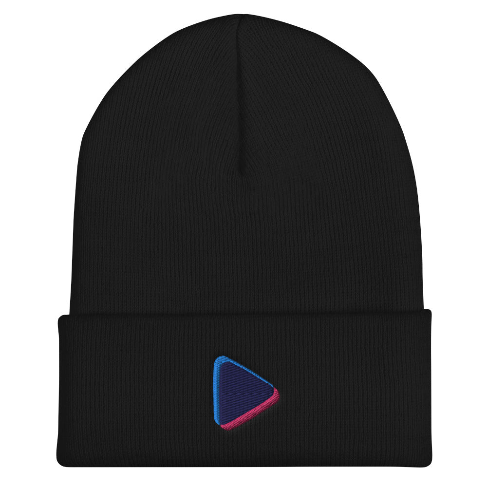 Cuffed Play Button Beanie