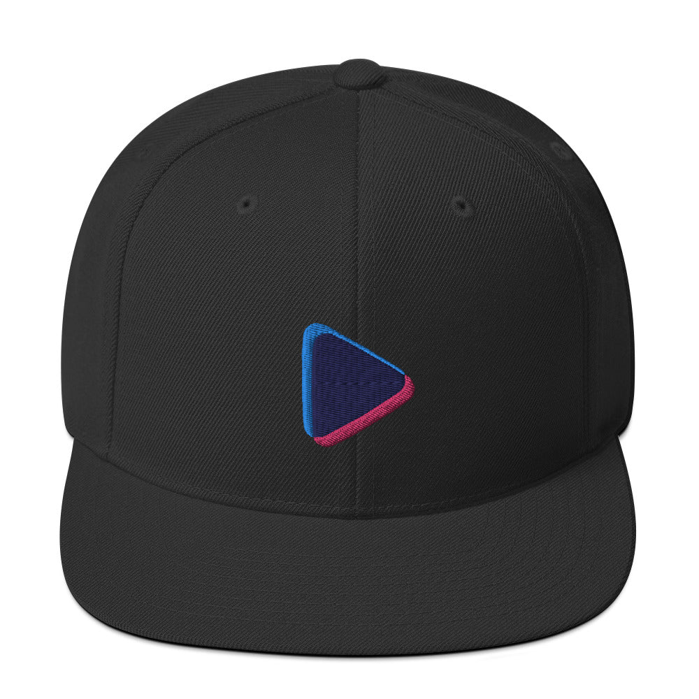 Play Button Snapback Cap